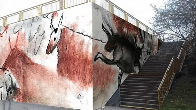 Návrhy výzdoby zdi u metra Opatov. Pravěk.