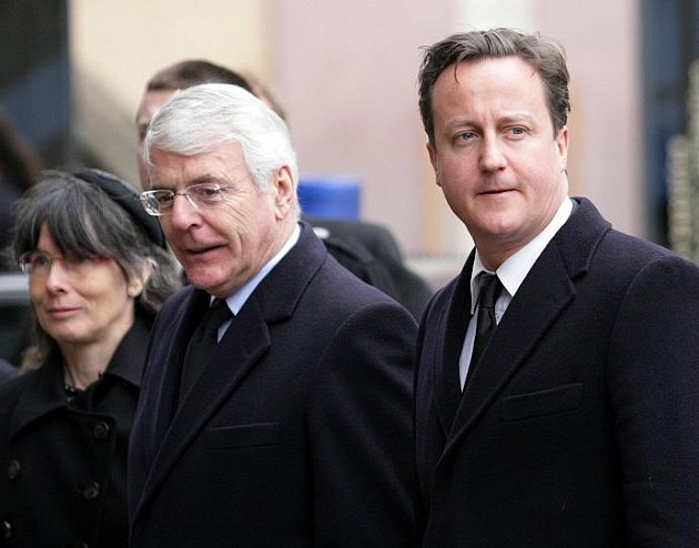 Státní pohřeb Václava Havla na Pražském hradě v pátek 23.prosince. Na snímku Britský premier David Cameron.