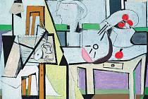 EMIL FILLA: Malíř 1932 olej, plátno 114,5 x 163,5 cm, Galerie Benedikta Rejta, Louny.