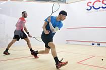 Na Strahově ve středu začne squashový turnaj PSA Czech Pro Series III 2021. Na snímku český reprezentant Martin Švec.