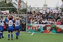 Fotbalový turnaj žen Global Goals World Cup Prague na Václavském náměstí 29.května 2019.