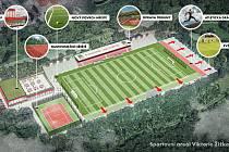 BUDOUCNOST. Takto by měl vypadat zrekonstruovaný sportovní areál na Vítkově. Vzhledem k velkému počtu týmů ale pochopitelně stačit nebude a klub hledá další prostory.