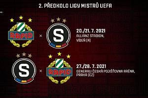 Sparta začne boj o pohárovou Evropu ve 2. předkole Ligy mistrů proti Rapidu Vídeň.
