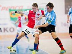 Slávisté v prvním čtvrtfinálovém zápase play off CHANCE futsal ligy porazili Plzeň 7:1.