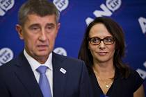 Předseda hnutí ANO Andrej Babiš a pražská primátorka Adriana Krnáčová.