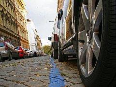Modrá zóna v Praze.