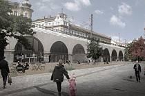 Záměr počítá i s náměstím coby hlavním místem pro setkávání lidí. Vizualizace