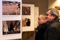 Zahájení výstavy v Nové budově Národního muzea k výročí 20 let samostatných států ČR a SR