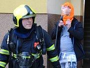 Požár bytu v Ovčárecké ulici.