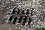Vydatný déšť v Praze.