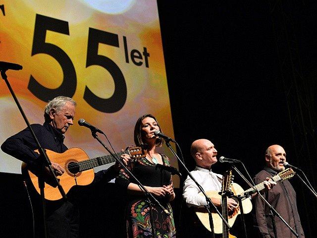 První z pěti koncertů nejstarší československé folkové skupiny Spirituál kvintet při příležitosti 55. výročí jejího založení se konal ve čtvrtek 15. října 2015 ve velkém sále pražské Lucerny.