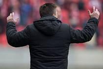 Fotbalový trenér pražské Slavie Dušan Uhrin.