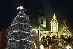 Vánoční trhy na Staroměstské.