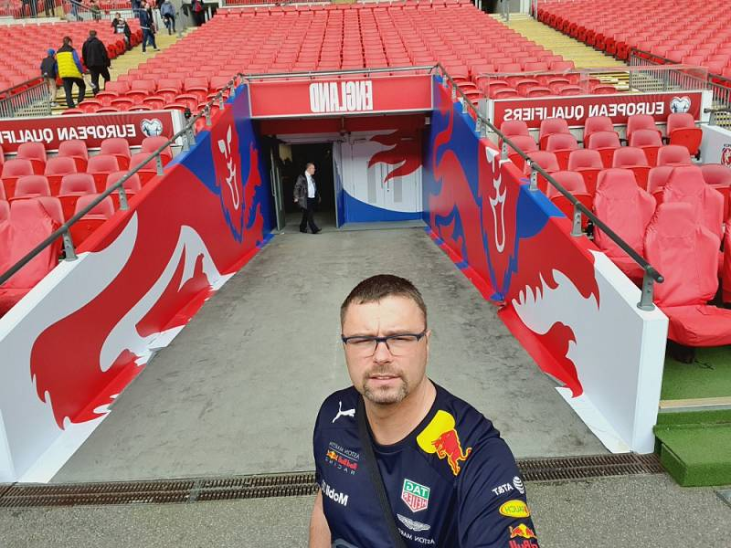 Rudolf Dofek z Prahy ve Wembley.