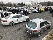 Protest taxikářů v Praze 8. února