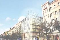 KVĚTINOVÝ DŮM, který má vyrůst na rohu Václavského náměstí a Opletalovy ulice