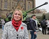 Den veteránů a výstava vojenské techniky na náměstí Míru.