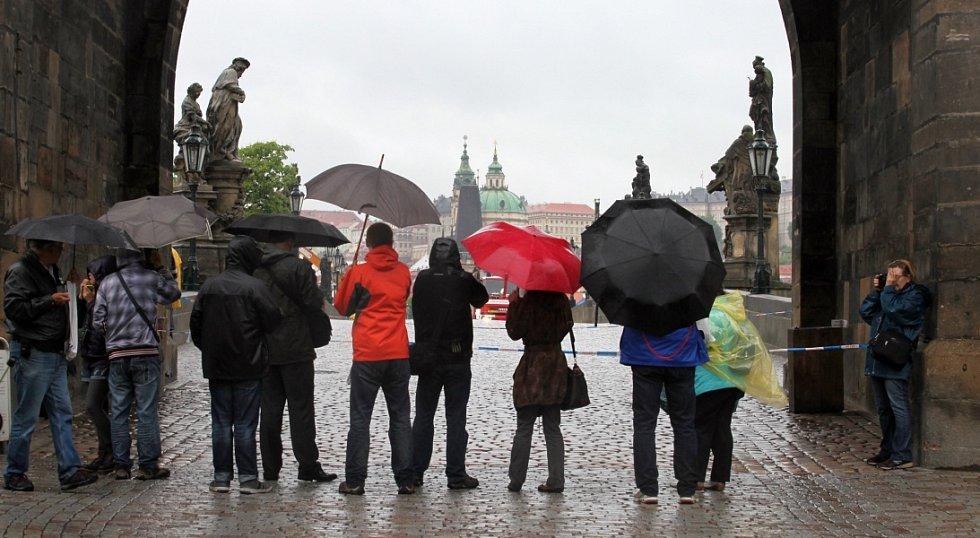 Povodně v Praze v pondělí 3. června.