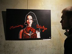 Zahájení výstavy obrazů Lusi Lu – 13laster 13itches. Rock Café.