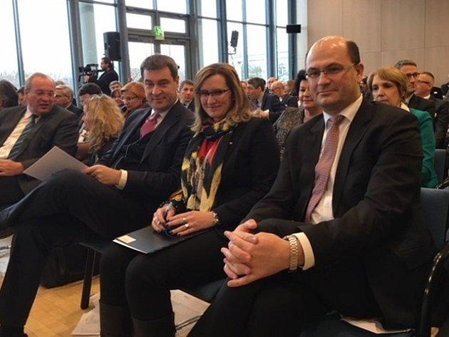 Ministryně pro místní rozvoj Karla Šlechtová jednala ve Weidenu s bavorským ministrem financí, zemského rozvoje a vlasti Markusem Söderem.