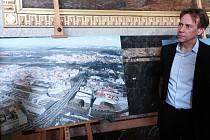 Z prezentace developerského projektu společnosti Penta u Masarykova nádraží v Praze. Na snímku Craig Kiner.