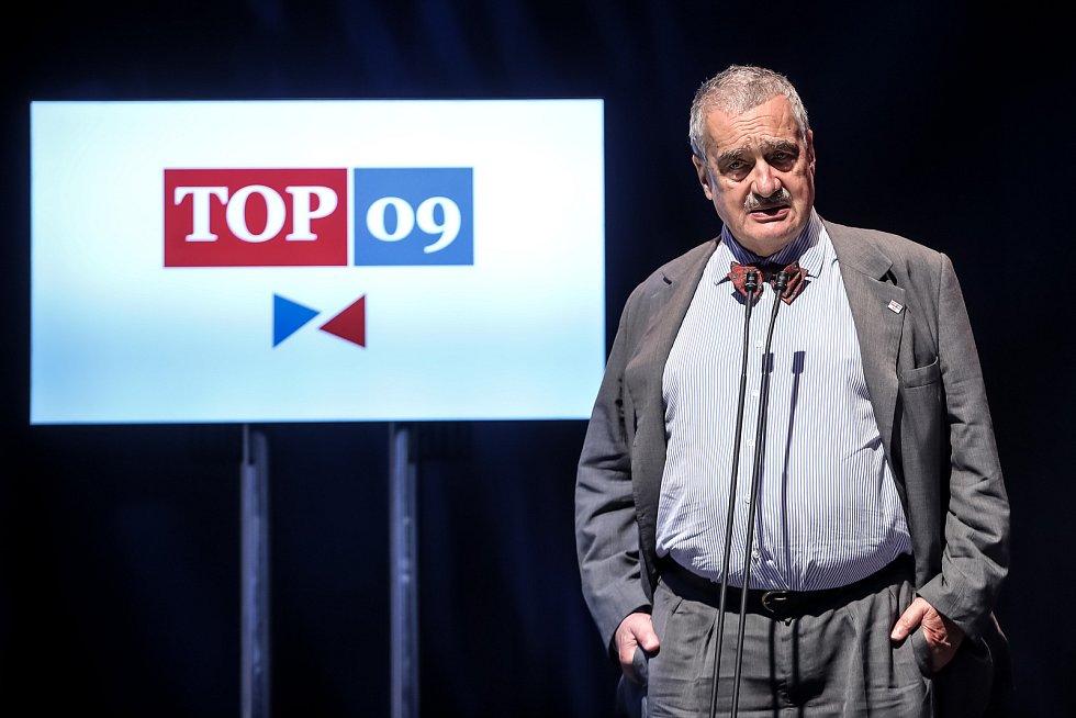 TOP 09 představila 30. května v Praze svoji volební kampaň do podzimních voleb. Na snímku Karel Schwarzenberg.