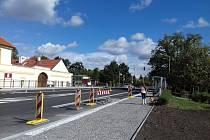 Opravená Českobrodská ulice v Běchovicích.