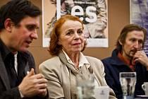 Herečka Iva Janžurová 18. března ve Stavovském divadle v Praze při tiskové konferenci k premiéře hry Les.