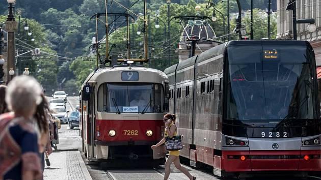 Tramvaje v Praze. Ilustrační foto.