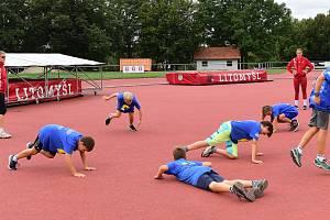 Talentovaní Lvi během letního soustředění v Litomyšli.