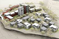 Vizualizace nové rezidenční čtvrti v Hloubětíně v sousedství Rokytky.