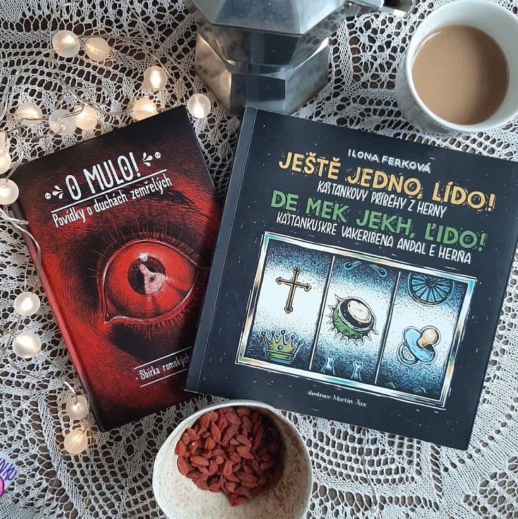 Obálky knih O mulo! a Ještě jedno, Lído! Ilony Ferkové.