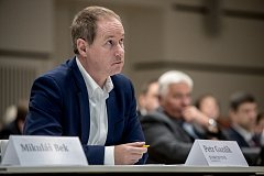 Hnutí Starostové a nezávislí (STAN) schvalovalo 24. srpna v Praze na programové konferenci volební program pro sněmovní volby. Na snímku Petr Gazdík.