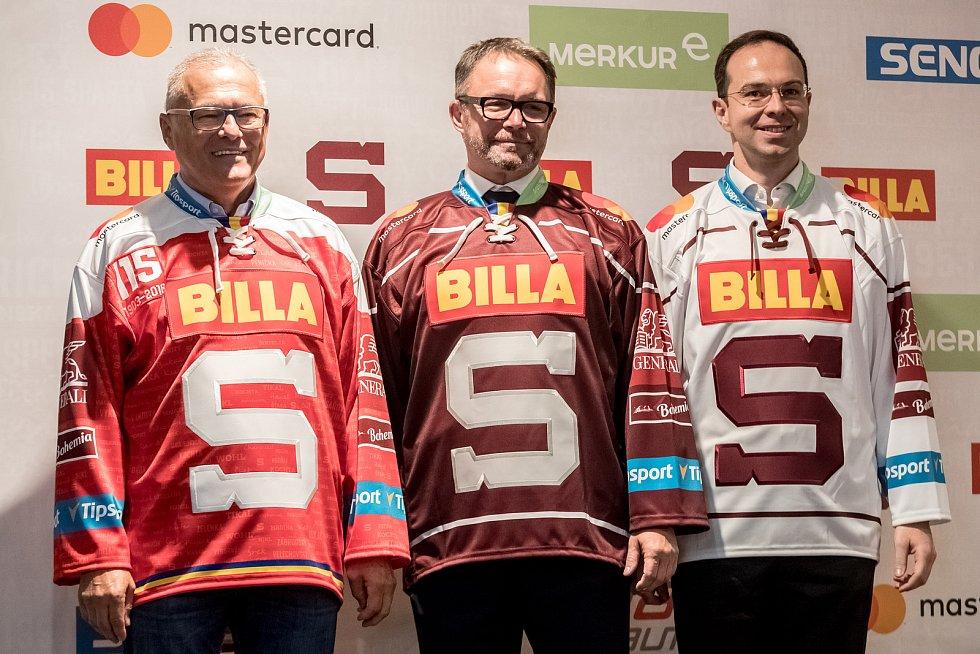 Hokejové pražská Sparta uspořádala 11. září v Praze tiskovou konferenci.