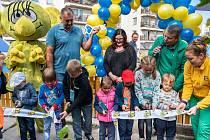 Slavnostní otevření Rákosníčkova hřiště v Praze na Barrandově.