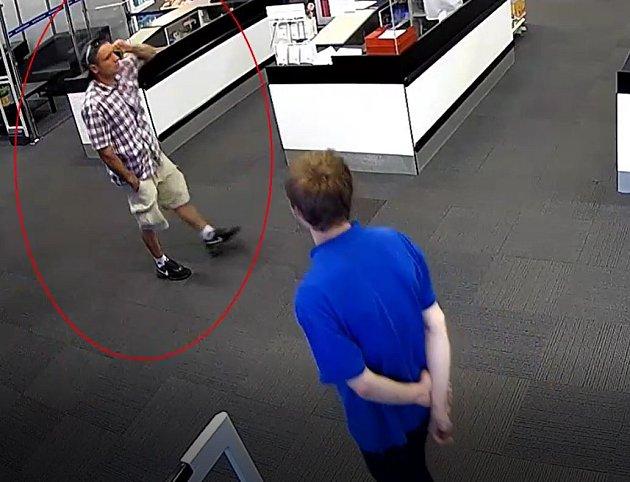 Podezřelý muž.