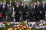 Pietní akt u příležitosti 74. výročí ukončení druhé světové války v Evropě Dne vítězství 8. května 2019 u Národního památníku na pražském Vítkově.