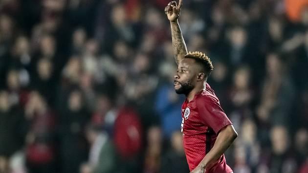 Zápas 14. kola FORTUNA:LIGY mezi Sparta Praha a Slavia Praha, hraný 4. listopadu v Praze. Guelor Kanga.