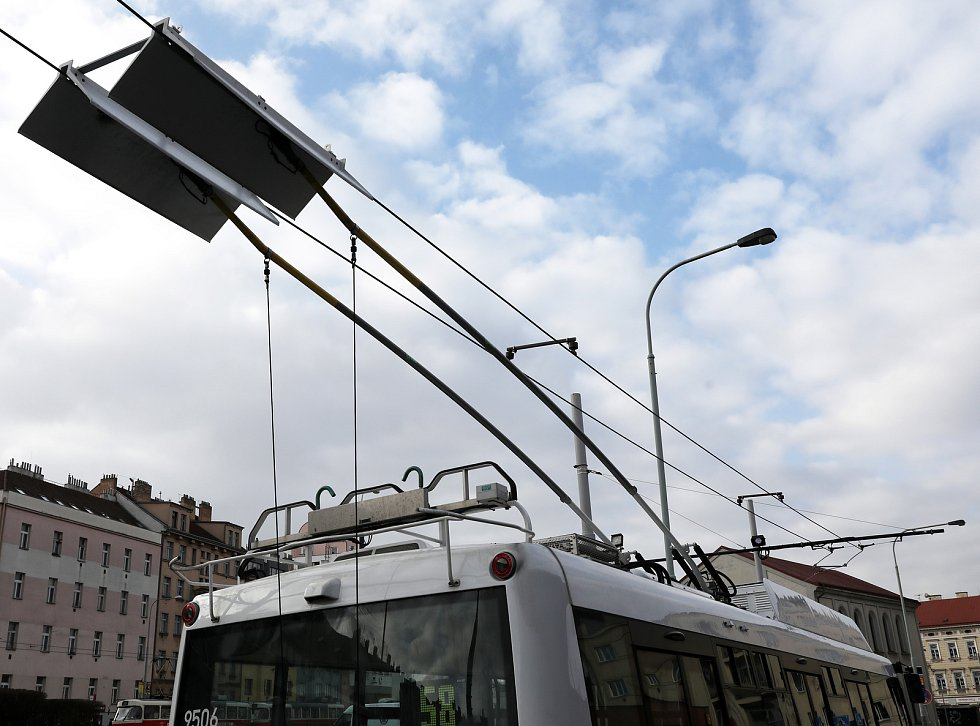 Trolejbusová linka 58 Palmovka - Letňany.