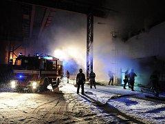 Požár v Komořanech.