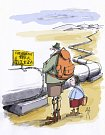 Výstava kresleného humoru na téma sucho - Břetislav Kovařík-