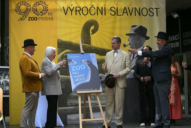 Z oslav a křtu knihy k 90ti letům Zoo Praha.