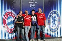 Fanoušci před zápasem Superpoháru Bayern Mnichov – Chelsea.