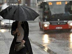 Vydatný déšť v Praze 29.června.