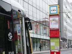 Tramvajová zastávka pražské MHD. Ilustrační foto.
