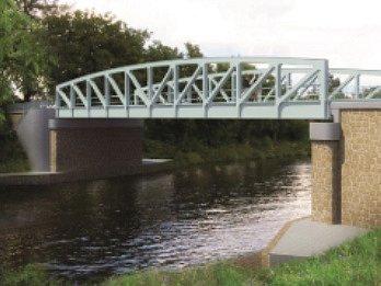 Hned tři zpěti nový plánovaných mostů budou zdvihací. Na snímku vizualizace mostu ve Vraňanech.