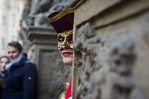 Masopustní průvod oslav Carnevale prošel 22. února centrem Prahy.