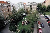 Park v Kouřimské ulici.