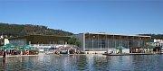 Vizualizace nového krytého bazénu, který vznikne v Radotíně.