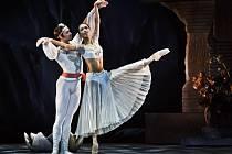Ze zkoušky nové verze slavného díla La Bayadére, kterou pro Balet Národního divadla v Praze nastudoval mexický choreograf Javier Torres.